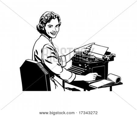 Retro Secretary - Retro ClipArt