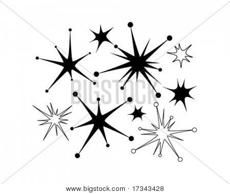 Retro Sternen 9 - ClipArt