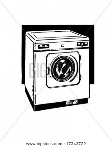 Automatic Washer - Retro Clip Art