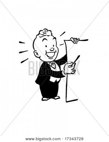 Big List - Presenter - Retro Clip Art
