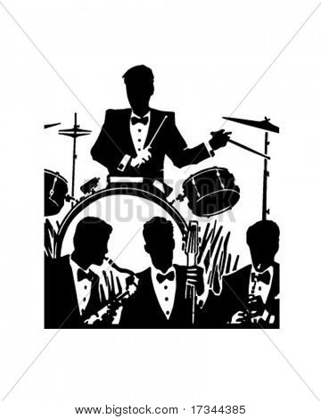 Jazz Band - Retro Clip Art