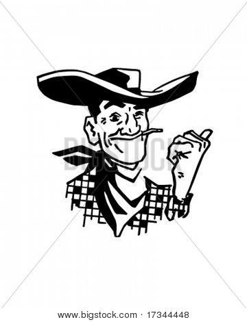 Vegas Cowboy - Retro Clip Art