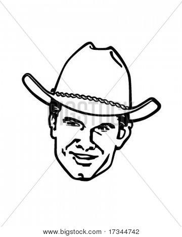Retro Cowboy - Clip Art