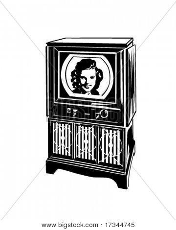 Retro TV - Clip Art