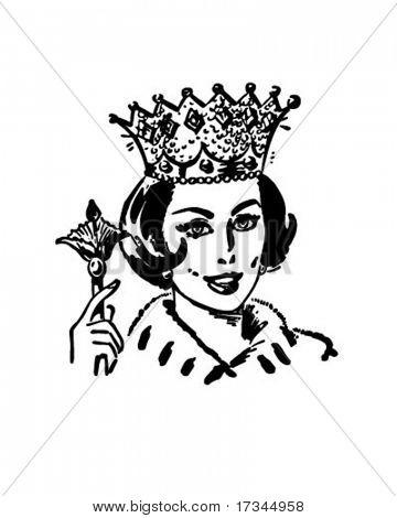 Reina de la casa - Retro Clip Art