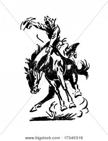 Rodeo Rider - Retro Clip Art