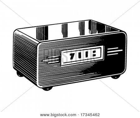 Clock Radio - Retro Clip Art