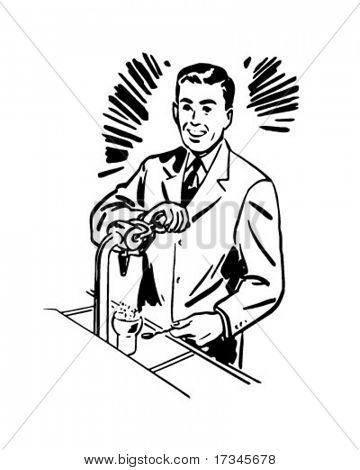 Soda Jerk 2 - Retro Clip Art