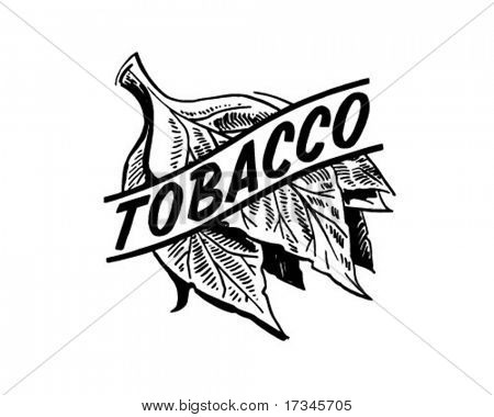 Tobacco - Retro Clip Art