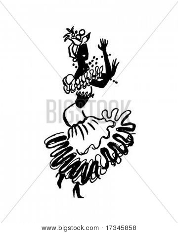 Calypso Dancer - Retro Clip Art