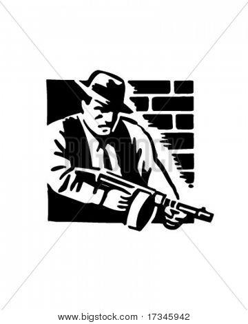 Gangster - Retro Clip Art