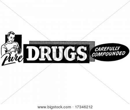 Pure Drugs - Retro Clip Art
