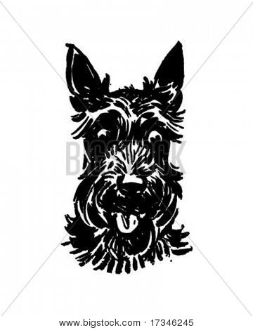 Scottie Dog - Retro Clip Art