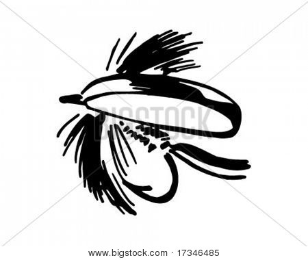 Fishing Fly 7 - Retro Clipart