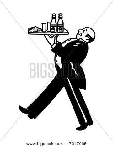 Butler - Retro Clipart Illustration