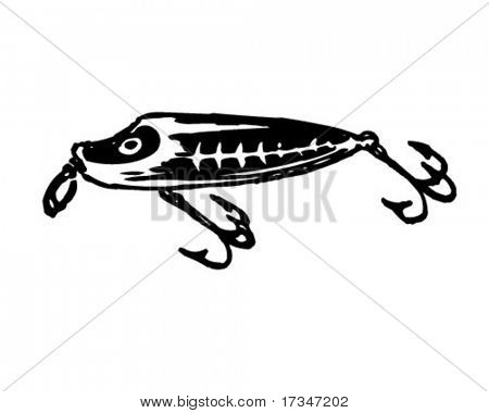 Fishing Fly 4 - Retro Clipart Illustration