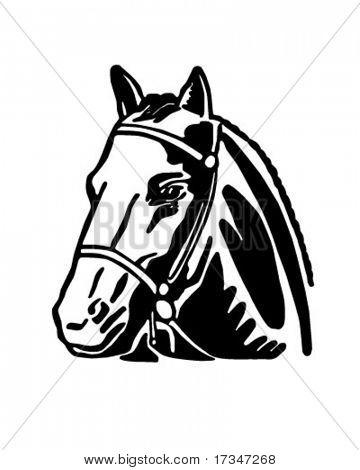 Cabeça de cavalo - ilustração Clipart retrô