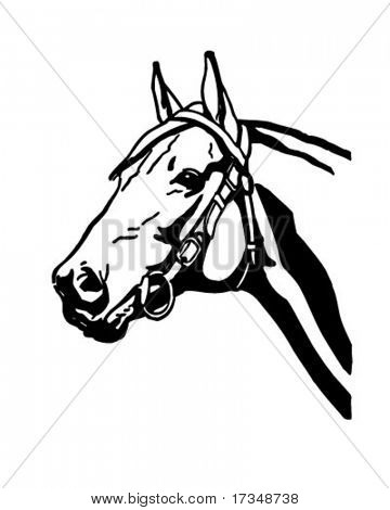 Horsehead 2 - Retro Clipart Illustration