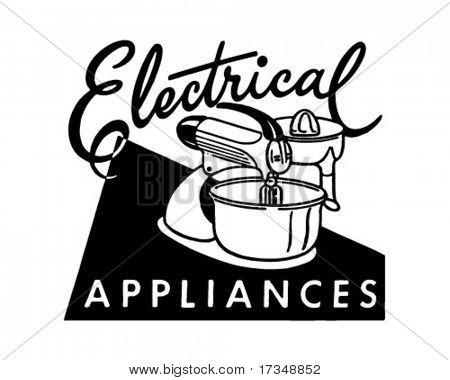 Electrical Appliances - Retro Ad Art - Banner