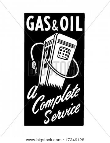 Gas And Oil 4 - Retro Ad Art Banner