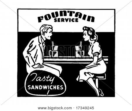 Fountain Service 2 - Retro Ad Art Banner