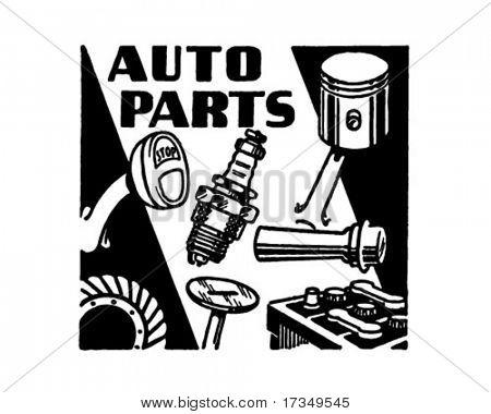 Auto Parts - Retro Ad Art Banner