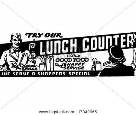 Lunch Counter - Retro Ad Art Banner