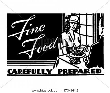 Fine Food 2 - Retro Ad Art Banner