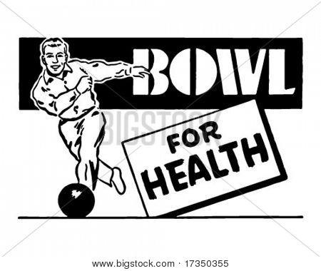 Schüssel für Gesundheit 3 - Retro Art-Werbebanner
