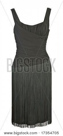 woman fashion black dress