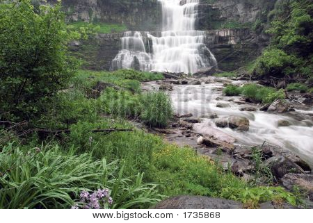 Beautiful Lush Waterfall