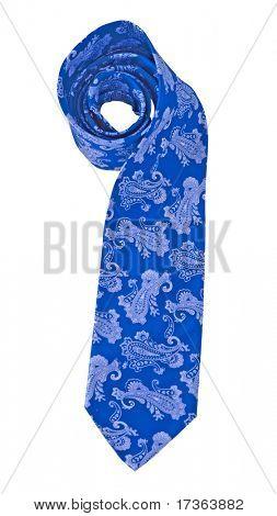 blue flower ornament tie