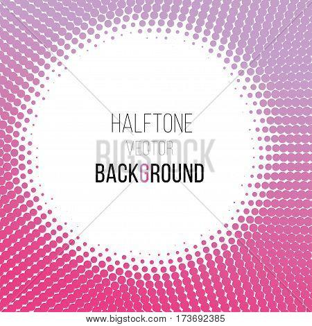 color gradient dot halftone background. Stock vector illustration