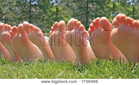 Row Of Feet