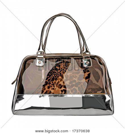 leopard patent bag