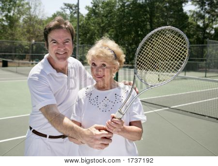 Her Tennis Lesson