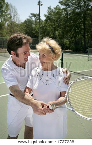 Tennis Lesson Vertical