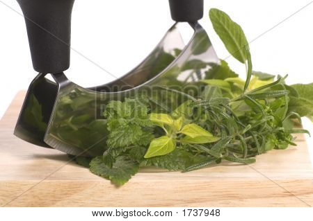 Chopping Fresh Herbs.