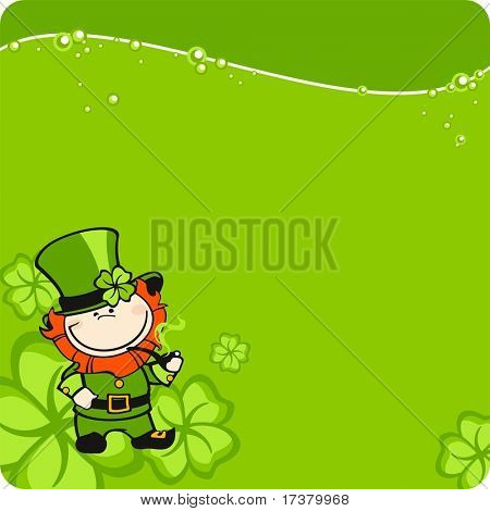 St. Patrick's Day leprechaun card