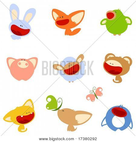 Cute animals (raster version)