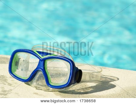 Swim Mask By The Pool