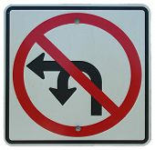 No Left Or U-turn