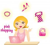 pic of blonde woman  - Happy Shopping with Attractive Girls - JPG