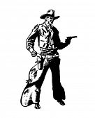 stock photo of sixgun  - Cowboy Drawing Pistol  - JPG