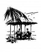 Постер, плакат: Тропический отдых ретро картинки