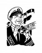 Ship's Captain - Retro Clipart Illustration