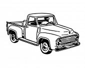 Pickup Truck 2 - Retro Ad Art Illustration