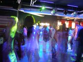 picture of club party  - at the club with live music and full with crowd - JPG