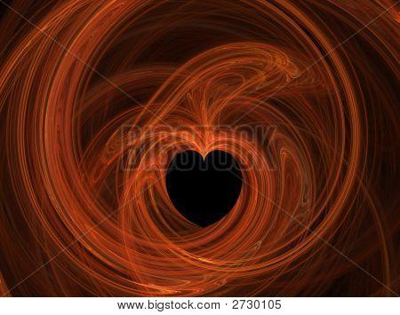 Orange Heart Fire Illustration