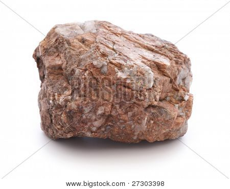 stone isolated on white background,Granite(in my portfolio have more photos of stones)